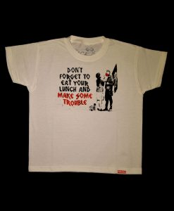 Banksy Make Some Trouble T-shirt Junior
