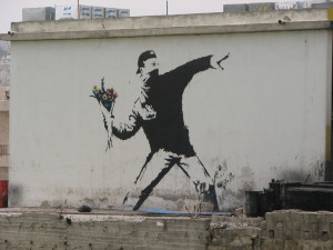 Banksy Flower Thrower