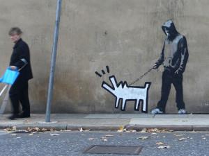 Banksy Keith Haring Dog