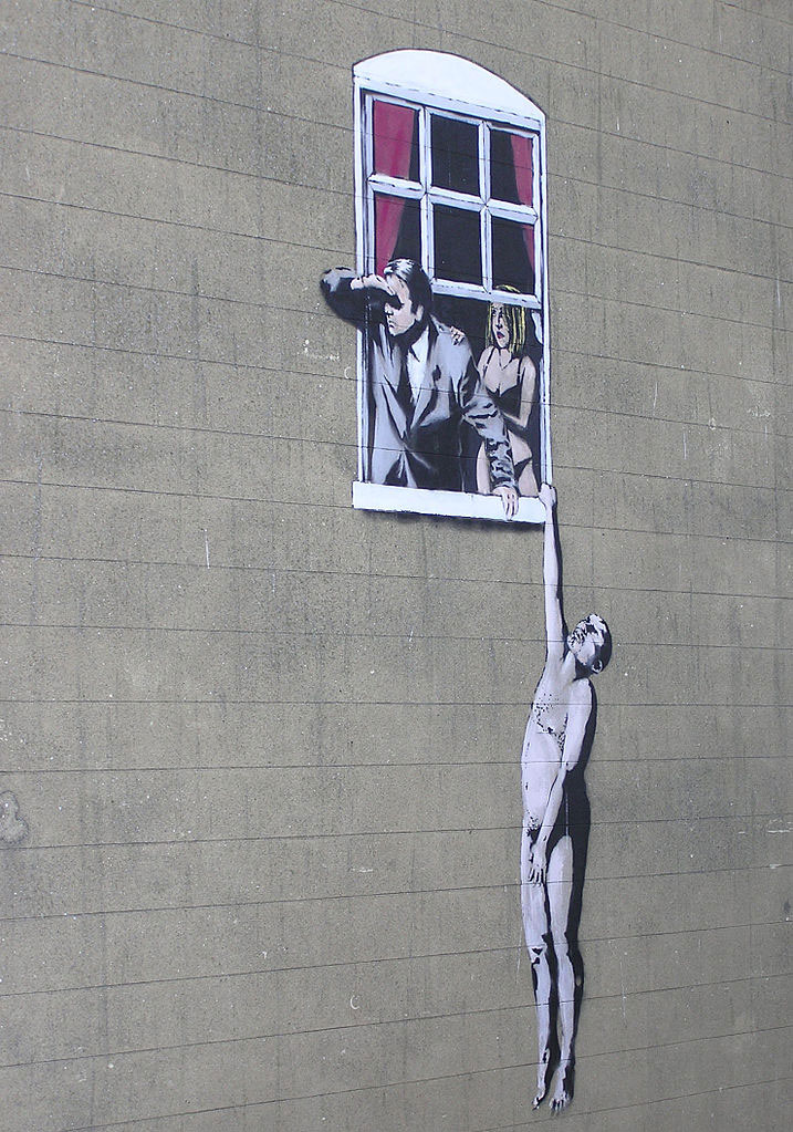 Banksy Window Lovers
