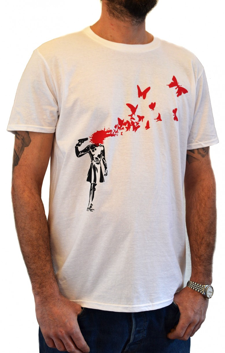 Faces Tshirt Girl Banksy Suicide Shirt Store White Su T wkX0O8nP