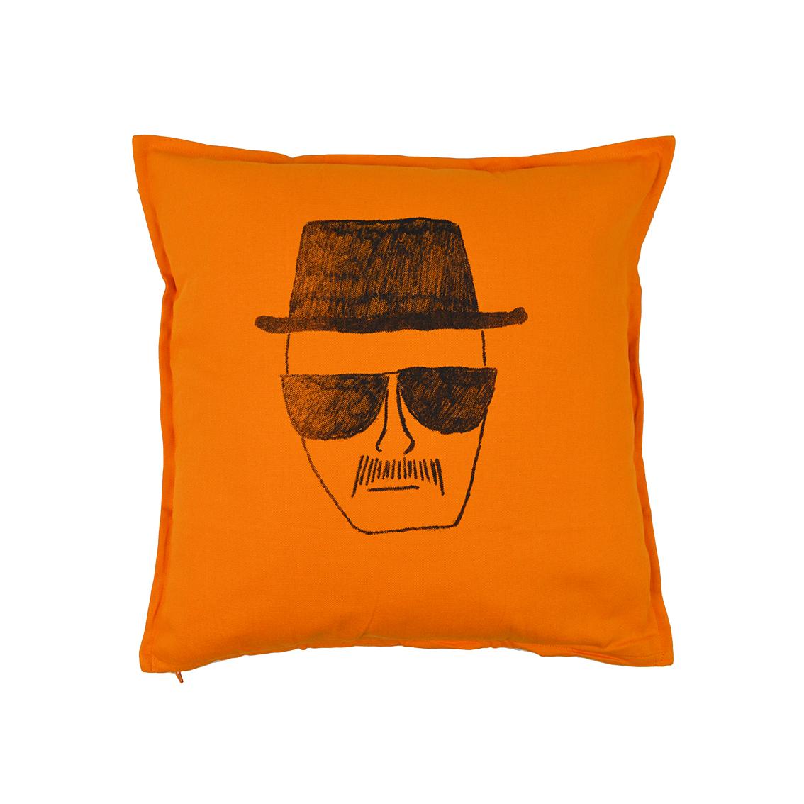 Cuscini Breaking Bad.Identikit Breaking Bad Cuscino 50 50 Arancio Su Faces Tshirt Store