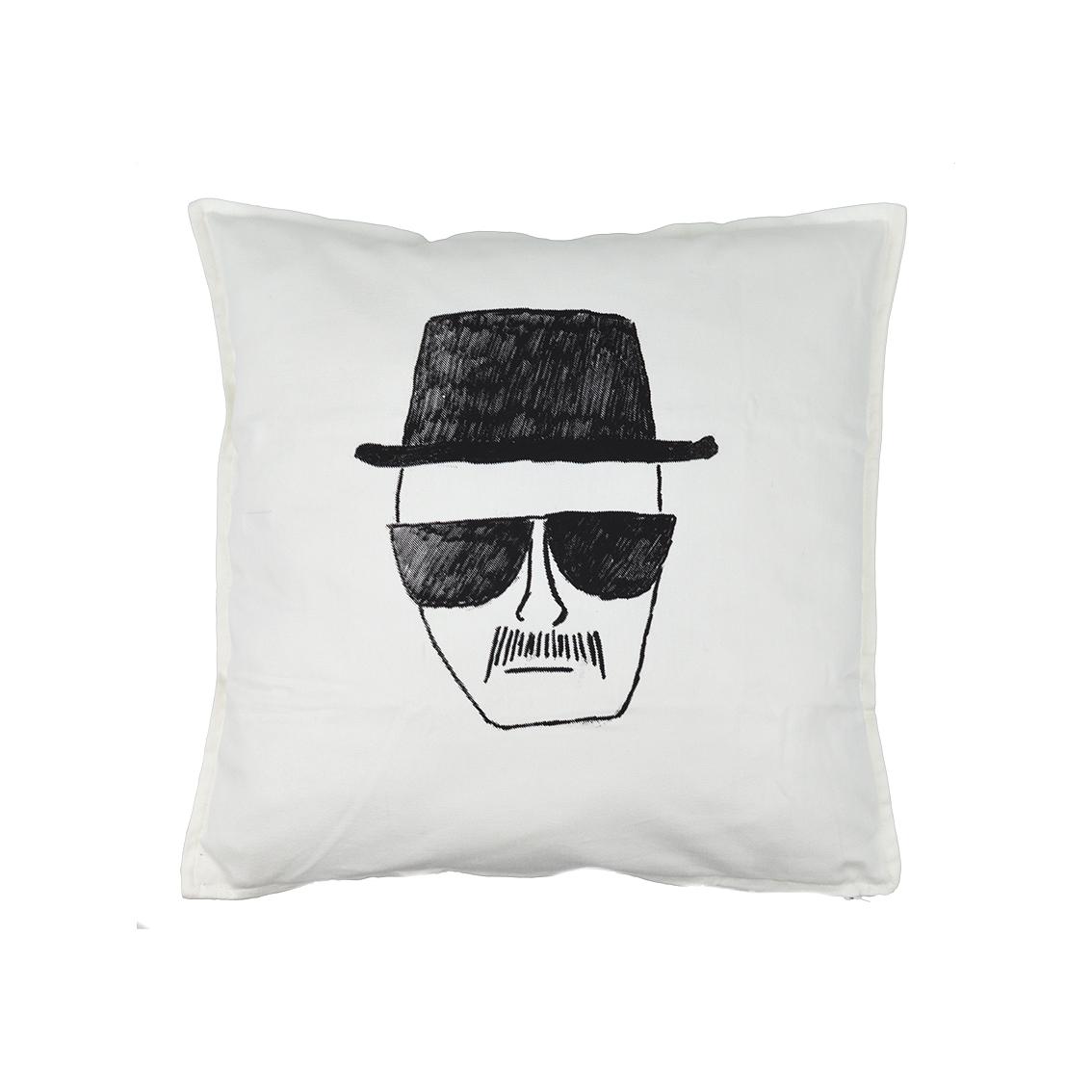 Cuscini Breaking Bad.Identikit Breaking Bad Cuscino 50 50 Bianco Su Faces Tshirt Store