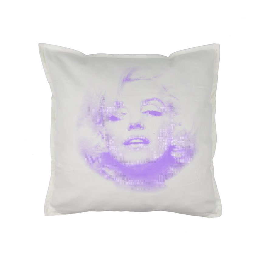 Cuscini Marilyn Monroe.Marylin Monroe Cuscino 50x50 Bianco Su Faces Tshirt Store